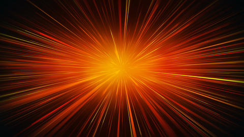 Radial blur orange rays abstract loopable motion background Animation