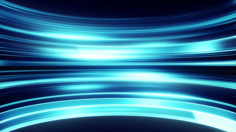 Glowing light stripes moving loopable technology background Animation