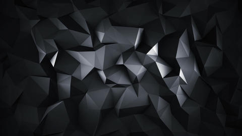 Black low poly 3D surface seamless loop animation Animation