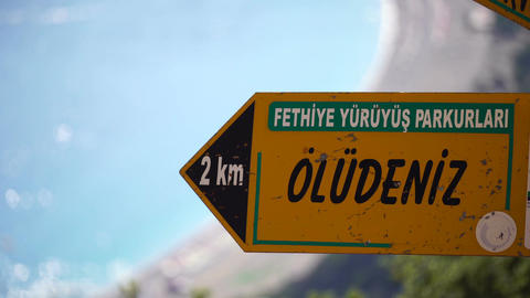 Turkey Lycian Way Signs Live Action