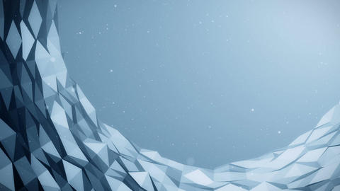 Blue Poligonal background02 HD Animation