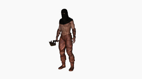 executioner , animation, Alpha channel Image