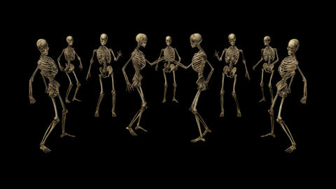 Skeletons are dancing,loop, animation, Alpha channel