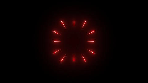 Red Light Bursts Animation