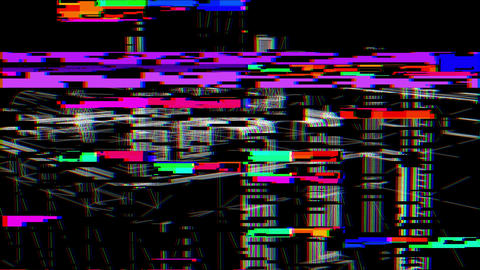 Glitch Effect Bad TV, Stock Animation