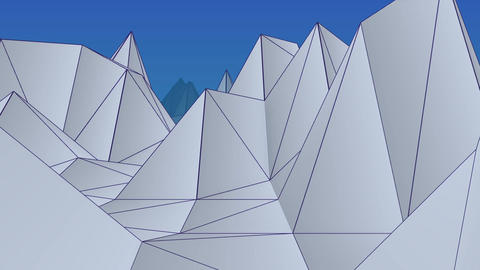 Abstract Low Poly Mountain Landscapes background Animation