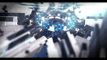 3D Sci Fi Logo ME(Blue) After Effects Template