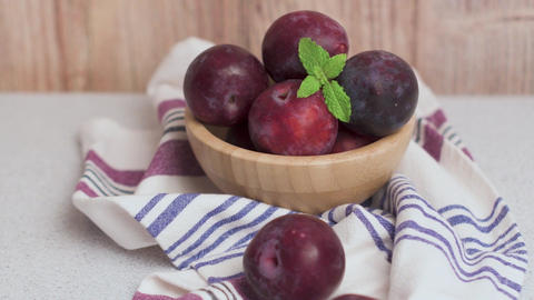 Delicious red plums Footage
