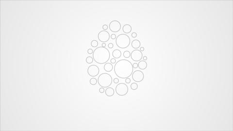 Abstract light grey Easter egg video animation Animation