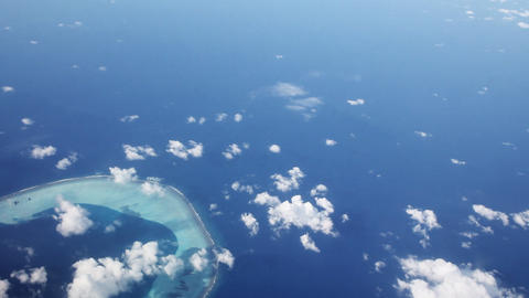 Maldives Islands Aerial stock footage