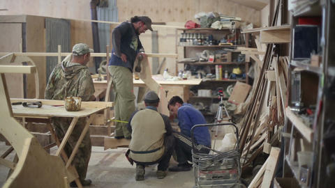 Rest Carpenters At The Shipyard stock footage
