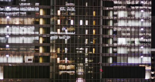 Elevators in an Office Buildingbseen through the Glass Footage