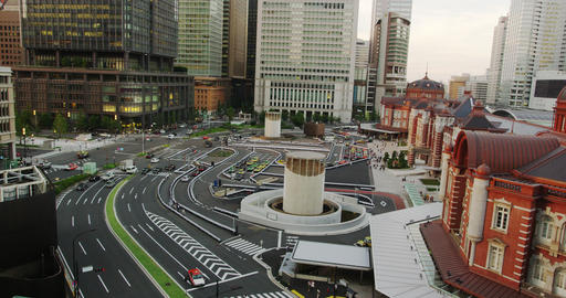 Elevated View of the newly Renovated Tokyo Station Footage