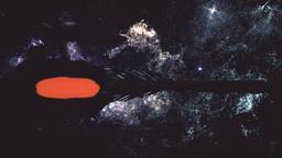 Spaceship Flying in Amazing Planetary Nebula Galaxy 3D Animation 5 stylized Animation