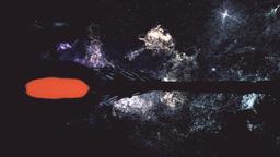 Spaceship Flying in Amazing Planetary Nebula Galaxy 3D Animation 6 stylized Animation