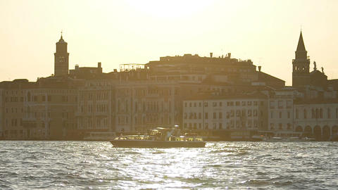 Venice cityscape, sightseeing tour around places of interest in Italy, tourism Live Action