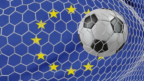 Ball and EU flag Animation