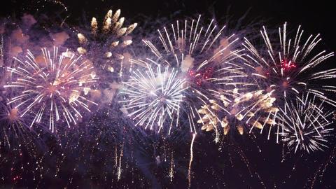 Video of fireworks in 4K 動画素材, ムービー映像素材