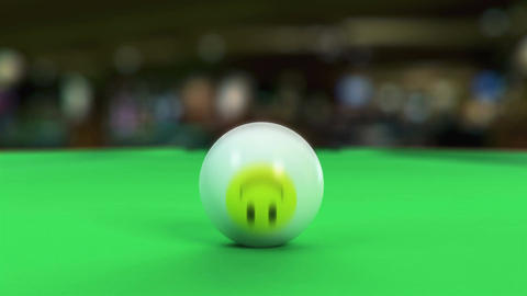 Balls breaking on pool table Stock Video Footage
