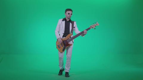 Bass Jazz Performer 1 - Green Screen Video Footage ビデオ