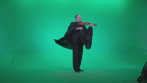 Professional Violin player man z4 - Green Screen Video Footage Archivo