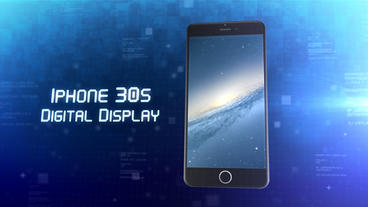 Phone 30s Digital Display - After Effects Template After Effects Template