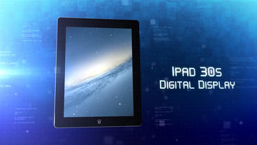 iPad 30s Digital Display - After Effects Template After Effectsテンプレート