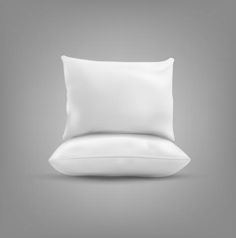 Two pillow isolated on a gray background フォト