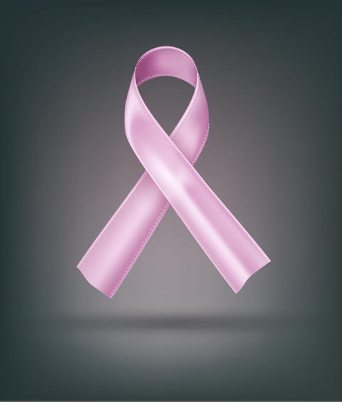 pink ribbon (breast cancer, awareness month) Element for Photo