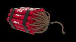 TNT bomb cartoon toon fuse burning lit timer sparks tnt... Stock Video Footage