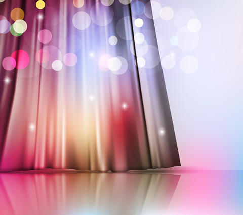 background with theatre curtain Photo