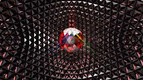 Multicolor Glittering Disco Ball CG動画