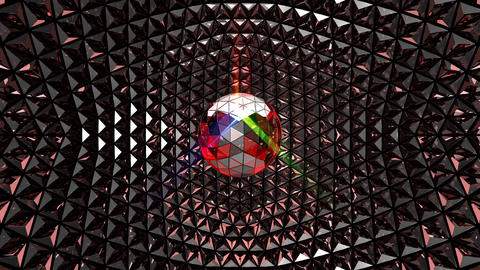 Multicolor Glittering Disco Ball Stock Video Footage
