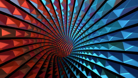 VJ Colorful Flashing Light Wormhole Tunnel CG動画素材