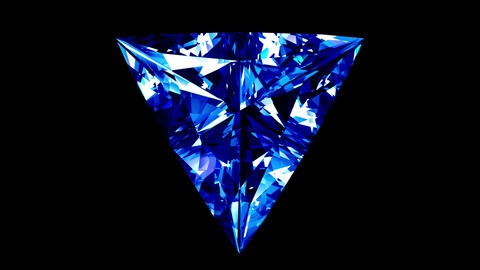 Sapphire Triangle Cut. Looped. Alpha Matte Animation