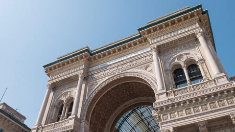 Milan Galleria Vittorio Emanuele arch, Hyperlapse Footage