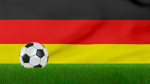 Ball on the Germany flag