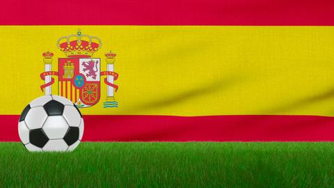 Ball on the Spain flag Animation