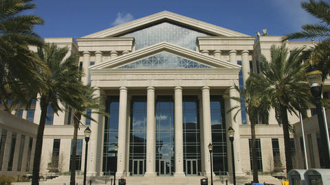 Front of Courthouse in Jacksonville, Florida Footage