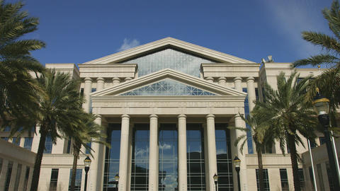 Front of Courthouse in Jacksonville, Florida Stock Video Footage