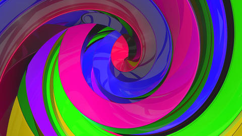 3D Colorful Swirls Background Animation