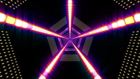 Pentagonal Light Tunnel Animation