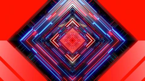 VJ Retro Futuristic Rhombus Animación