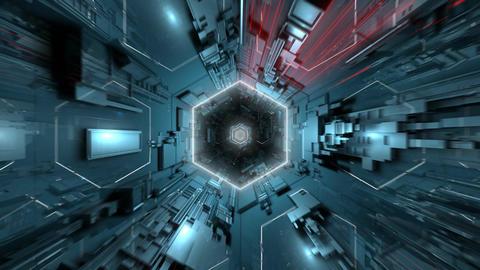 VJ Dark Hexagonal Tunnel Animation