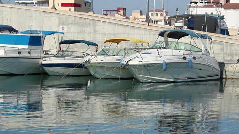 Marina boats on a sunny day Footage