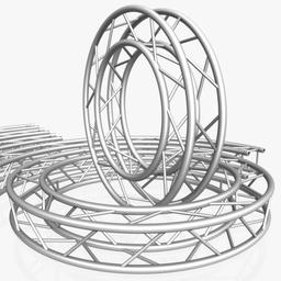 Circle Square Truss Modular Collection ( 10 Modular Pieces ) 3D Modell