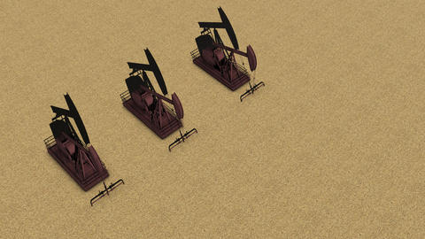 team of rust pump jacks Animación