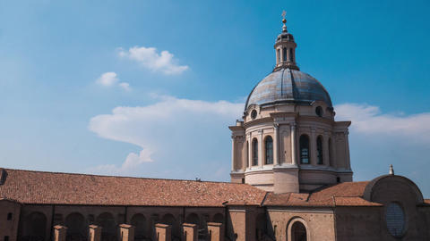 Dome of Sant'Andrea church in Mantua, Timelapse Footage