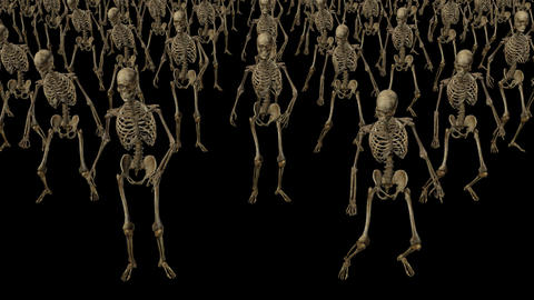 Skeletons are dancing,loop, animation, Alpha channel CG動画素材