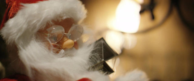 The toy Santa Footage